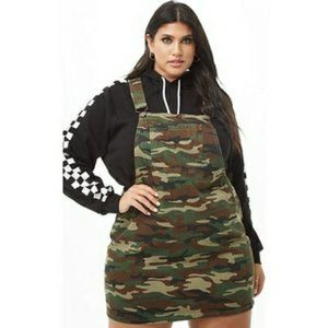 FOREVER 21+ CAMOUFLAGE OVERALL DRESS